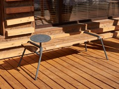 Panchina in acciaio e legno senza schienaleDIY | Panchina - PUNTO DESIGN