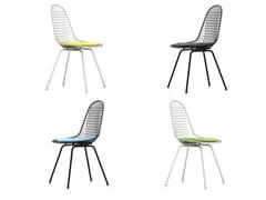 Sedia in metallo con cuscino integrato DKX-5 - Wire Chair