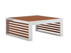 Tavolino a slitta basso quadrato in teakDNA TEAK | Tavolino da giardino - GANDIA BLASCO
