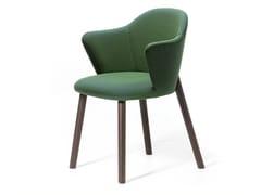 Sedia imbottita in tessuto con braccioliDOC | Sedia con braccioli - ARRMET