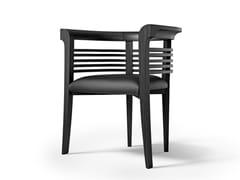 Sedia imbottita in legno con braccioliDOLFIN - CARPANELLI