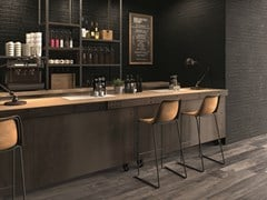 Listone in gres porcellanato a massa colorata DOLPHIN Coal - ABK GROUP INDUSTRIE CERAMICHE