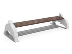 Panchina in calcestruzzo e legno senza schienaleDOLPHIN - ENCHO ENCHEV - ETE