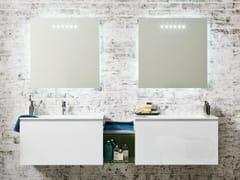 Mobile lavabo componibile in cristallo con cassettiDOMINO 44 - ARTELINEA