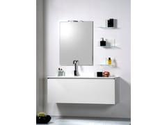 Mobile lavabo componibile in cristallo con cassettiDOMINO - ARTELINEA