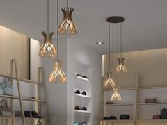 Lampada a sospensione a LED in legnoDOMITA S/20/3L - BOVER IL. LUMINACIÓ & MOBILIARIO