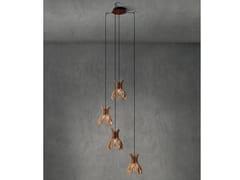 Lampada a sospensione a LED in legnoDOMITA S/20/4L - BOVER IL. LUMINACIÓ & MOBILIARIO