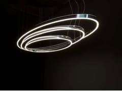 Lampada a sospensione a LED in alluminio DOPPIO ELLIPSE - Circolo