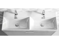 Lavabo doppio in ceramicaVELCA | Lavabo doppio - BLOB