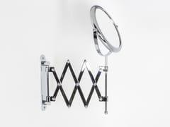 Specchio ingranditore bifacciale rotondo a parete DOPPIOLINO | Specchio ingranditore a parete - Doppiolo