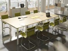 Tavolo da riunione rettangolare con sistema passacaviDORIA | Tavolo da riunione rettangolare - CENTRUFFICIO LORETO