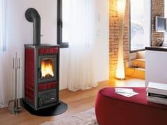 Stufa a legna per riscaldamento aria classe ADORY S - PALAZZETTI LELIO