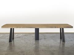 Tavolo da pranzo rettangolare in legno di recuperoDOSSON - A&B ROSA DEI LEGNI BY ANTICA EDILIZIA