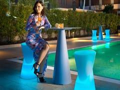 Sgabello alto da giardino luminoso in polietileneDOT | Sgabello alto - VECA