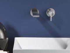 Miscelatore per lavabo a 2 fori a muro monocomando in acciaio inox DOT316 | Miscelatore per lavabo a 2 fori - DOT316