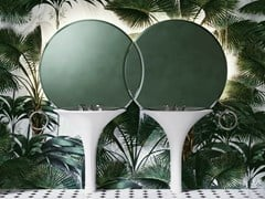 Doppio lavabo in White Tec con specchioDOUBLE KALOS - DEVON&DEVON