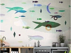 Wallpepper Group, DOWN BY THE WATER Carta da parati tropicale PVC free, eco-friendly, lavabile
