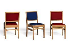 Sedia in rovere con cuscino integratoDOWNING - LUKE HUGHES & COMPANY