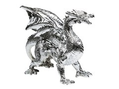 Soprammobile in resina DRAGON CHROME -