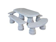 Seduta e tavolo in pietra ricostrutitaDRAGONERIA - BONFANTE