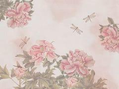 ARBLU, DRAGONFLY Carta da parati con motivi floreali effetto tessuto