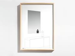 Specchio rettangolare in legno e vetro con cornice da pareteDRAWING NO. 13 - DANESE MILANO