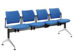 Seduta su barra a pavimento in tessutoDREAM 140-4-N1 - LD SEATING