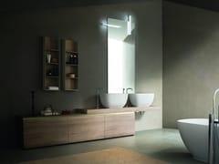 Mobile lavabo doppio in legno con cassetti DRESS   Mobile lavabo con cassetti - Dress