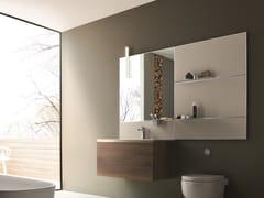 Mobile lavabo singolo sospeso con specchio DRESS   Mobile lavabo con specchio - Dress