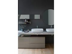 Piano lavabo doppio in legnoDRESS | Piano lavabo - ARBLU