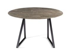 Tavolo rotondo in marmo DRITTO | Tavolo rotondo - Dritto