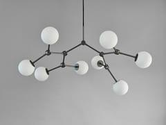 LAMPADARIO A LED IN OTTONEDROP CHANDELIER BULP MINI - 101 COPENHAGEN