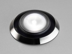 Segnapasso a LED a pavimento in acciaio inoxDUNA - PURALUCE