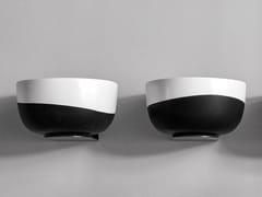 Lavabo rotondo singolo in ceramicaDUO - CERAMICA CIELO