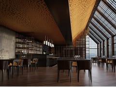 SPÄH designed acoustic, Designed acoustic Voronoi ceiling Pannelli per controsoffitto fonoassorbente in PET