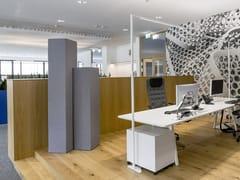 Divisorio ufficio fonoassorbente freestanding in Basotect®Designed acoustic tower - KARL SPÄH