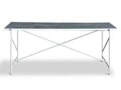 Tavolo da pranzo rettangolare in acciaio verniciato a polvere 185   Tavolo da pranzo -