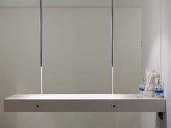 Piano lavabo doppio in Corian®Piano lavabo doppio - BAQUA