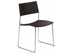 Sedia a slitta impilabile DUO 140   Sedia in legno - Duo