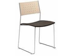Sedia a slitta impilabile con cuscino integrato DUO 140 | Sedia con cuscino integrato - Duo