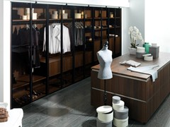 Cabina armadio componibile in legno e vetroE6 | Cabina armadio in legno e vetro - PORCELANOSA GRUPO
