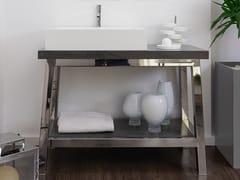 Mobile lavabo da terra singolo in acciaio inoxEASEL   Mobile lavabo in acciaio inox - AMA DESIGN
