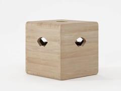 Pouf contenitore in legno masselloEAST   Pouf contenitore - KARPENTER