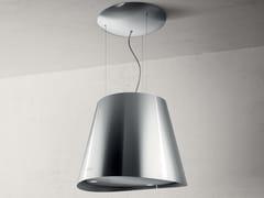 Cappa ad isola in acciaio inox in stile moderno con illuminazione integrata classe AEASY - ELICA