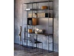 Libreria a giorno in metallo con scrittoioEASY IRONY BUREAU | Libreria - ZEUS
