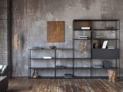 Libreria a giorno componibile in metalloEASY IRONY CONSOLE | Libreria - ZEUS