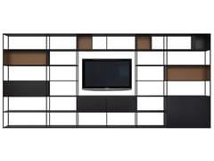 Libreria in metallo con porta tvEASY IRONY TV - ZEUS