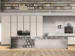 Cucina componibile con isola in alluminio e marmoEASY THE DOUBLE HEIGHT - ELMAR