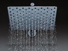 Soffione doccia a muro in ottone con braccio con sistema anticalcareECHO | Soffione doccia a muro - TECH RAIN