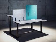 Pannello divisorio da scrivania in PETECHOCOVE® DESK TWO - ECHOJAZZ